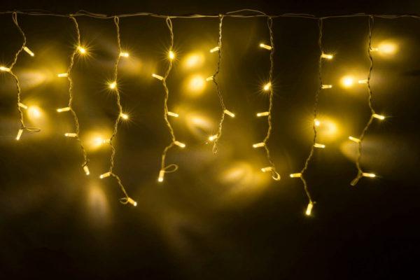 Гирлянда Айсикл 4,8 х 0,6 м, белый провод КАУЧУК, свечение тепло-белое (без силового шнура)