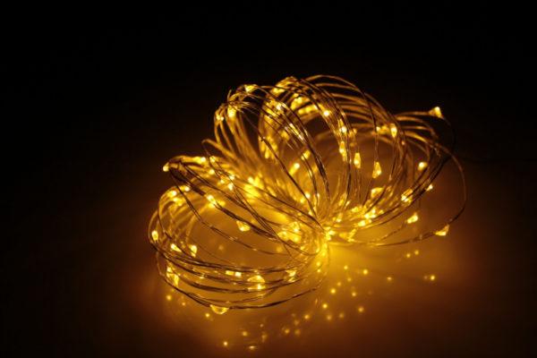 LED Роса 10м, жёлтая