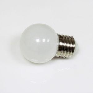 LED лампа — шарик с цоколем E27, 45 мм, (5 светодиодов), матовые, белый