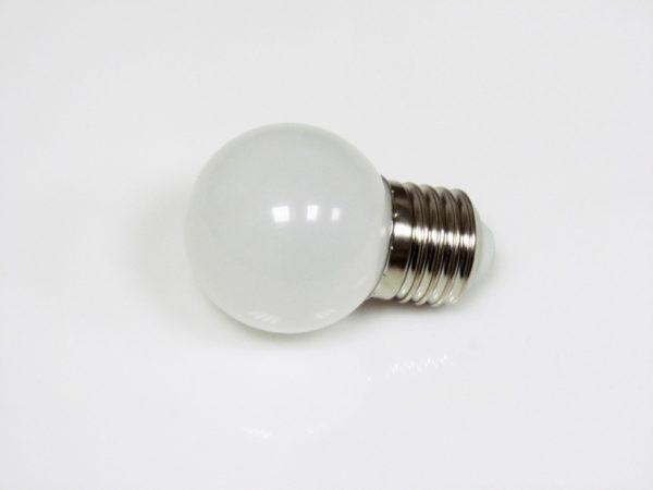 LED лампа - шарик с цоколем E27, 45 мм, (5 светодиодов), матовые, белый 2