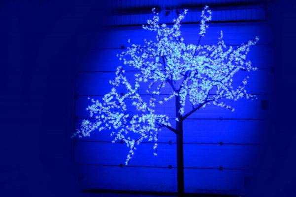 Сакура светодиодная 2688LED, H3,6м D3,0м, синее 1