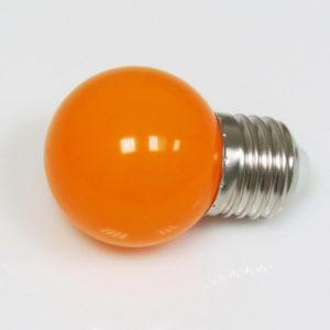 LED лампа — шарик с цоколем E27, 45 мм, (5 светодиодов), матовые, оранжевый