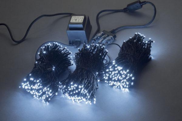 Гирлянда-спайдер 3х20м, 600LED, черный провод, белый 1