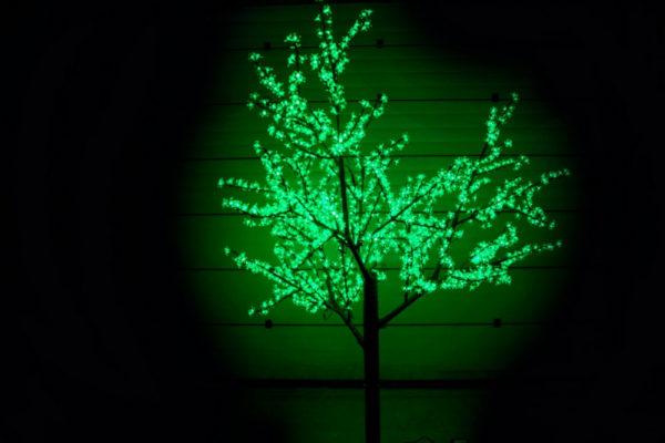 Сакура светодиодная 1728LED, H2,5м D2,0м, зеленое