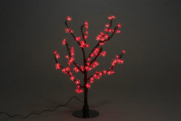 Куст сакуры 96LED, 0,8х0,8м, красный