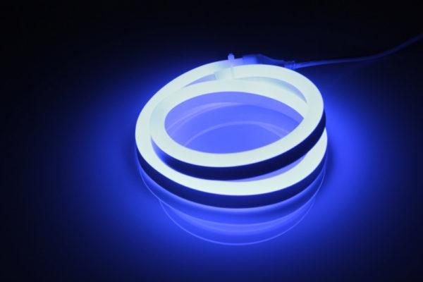 Леднеон флекс, 12х25мм, 120 led/m, бухта 50м, кратность резки 1метр, синий