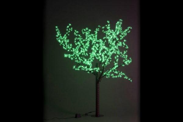 Сакура светодиодная 972LED, H1,9м D1,5м, зеленое