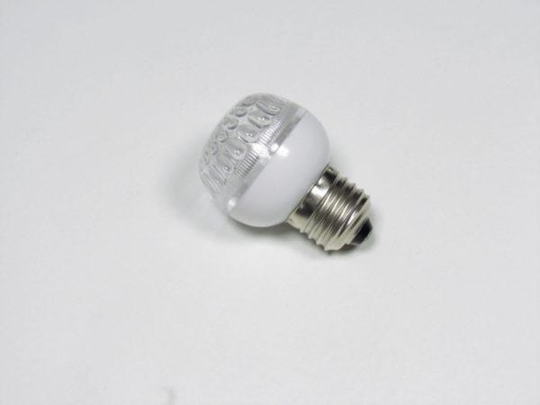LED лампа с цоколем E27, 50 мм, (9 светодиодов), красный 2