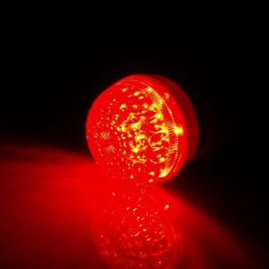 LED лампа с цоколем E27, 50 мм, (9 светодиодов), красный