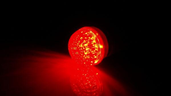 LED лампа с цоколем E27, 50 мм, (9 светодиодов), красный 1
