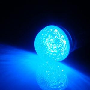 LED лампа с цоколем E27, 50 мм, (9 светодиодов), синий