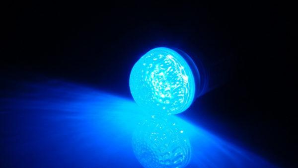 LED лампа с цоколем E27, 50 мм, (9 светодиодов), синий 1