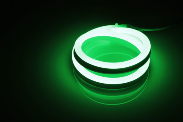 Леднеон флекс, 12х25мм, 120 led/m, бухта 50м, кратность резки 1метр, зеленый 1