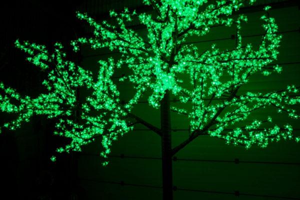 Сакура светодиодная 2688LED, H3,6м D3,0м, зеленое 2