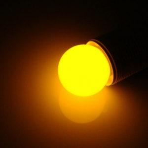 LED лампа – шарик с цоколем E27, 40 мм, (5 светодиодов), матовые, желтый