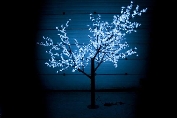 Сакура светодиодная 1728LED, H2,5м D2,0м, белое 1