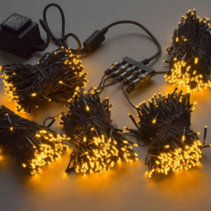 Гирлянда-спайдер 5х20м, 1000LED, черный провод, желтый
