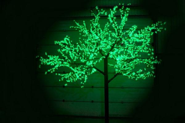 Сакура светодиодная 2688LED, H3,6м D3,0м, зеленое