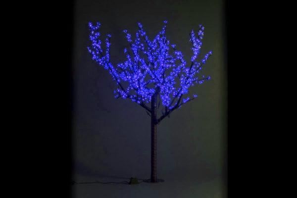 Сакура светодиодная 972LED, H1,9м D1,5м, синее