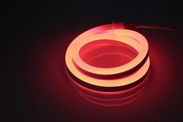 Леднеон флекс, 12х25мм, 120 led/m, бухта 50м, кратность резки 1метр, красный