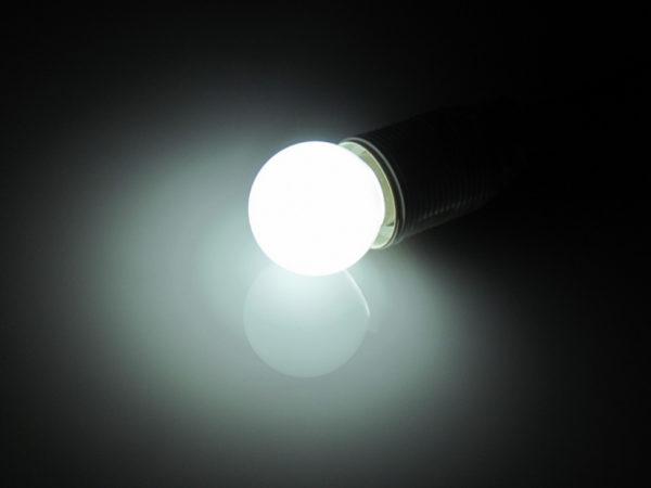 LED лампа - шарик с цоколем E27, 45 мм, (5 светодиодов), матовые, белый 1