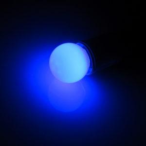 LED лампа – шарик с цоколем E27, 45 мм, (5 светодиодов), матовые, синий