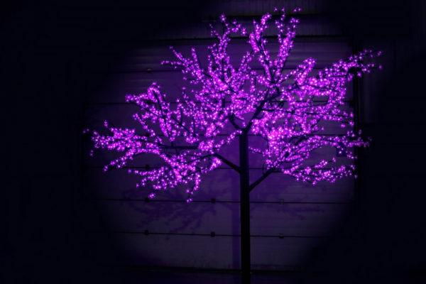 Сакура светодиодная 2688LED, H3,6м D3,0м, фиолетовое