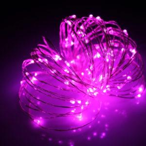 LED Роса 20м, розовая