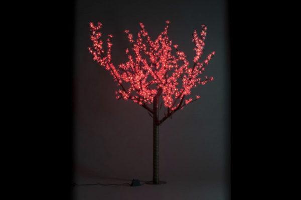 Сакура светодиодная 972LED, H1,9м D1,5м, красное