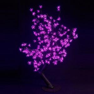 Куст сакуры 224LED, 0,8х0,8м, розовый