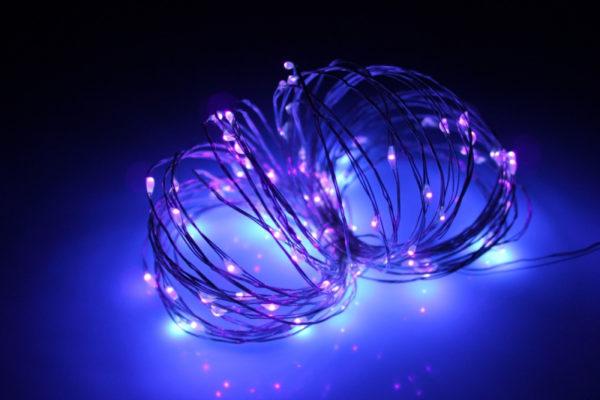 LED Роса 20м, пурпурный 1