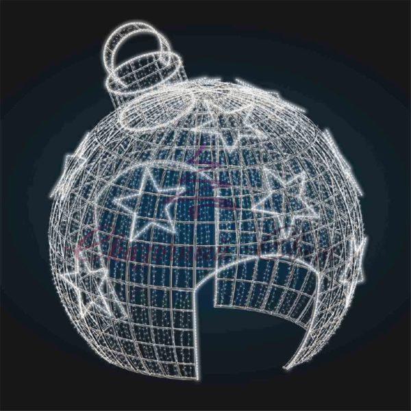 Входная группа Новогодняя игрушка со звездами В 5,9 м х Ш 5,4 м х Г 4,9 м - 3D GR 01 1