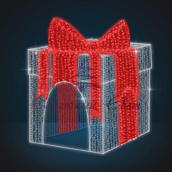 Световая объемная декорация Подарочная коробка В 6,25 м х Ш 5,0 м х Г 5,0 м - 3D GR 02-2 1