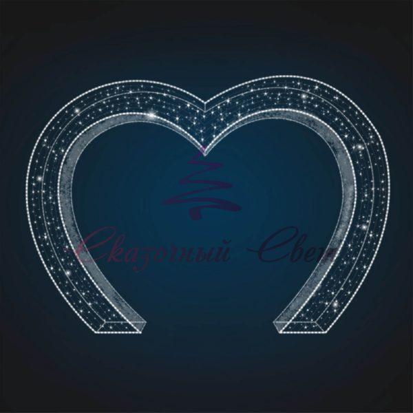 Световая арка Сердце В 2,8 м х Ш 4,0 м х Г 0,45 м - 3D GR 03 1