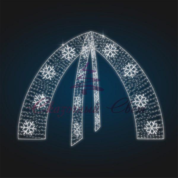 Входная группа Звездные ворота со снежинками В 4,0 м х Ш 5,5 м х Г 5,5 м - 3D GR 10-1 1