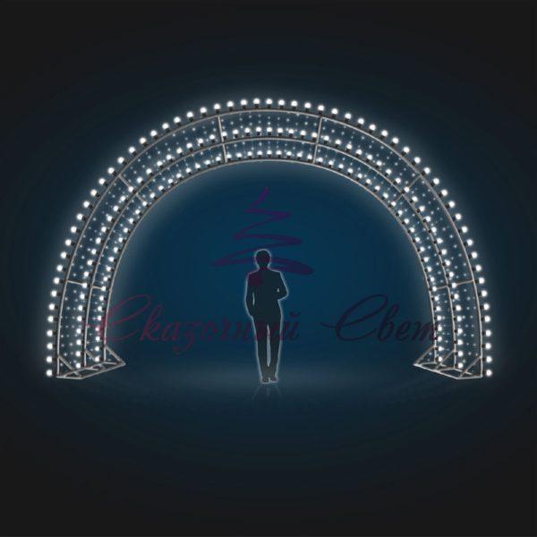 Световая арка с лампочками В 3,0 м х Ш 4,0 м х Г 3,0 м - 3D GR 15 1