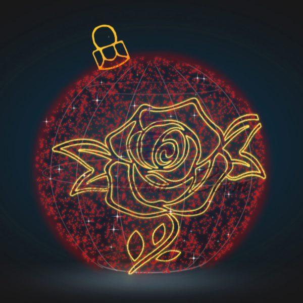 Шар с розой В 2,7 м х Ш 2,5 м х Г 2,5 м - 3D GR 200 1