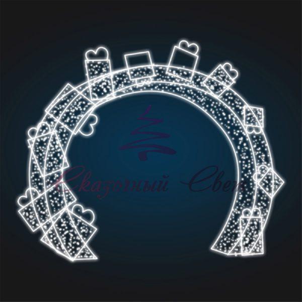 Световая арка с подарками В 4,0 м х Ш 4,0 м х Г 0,6 м - 3D GR 23 1