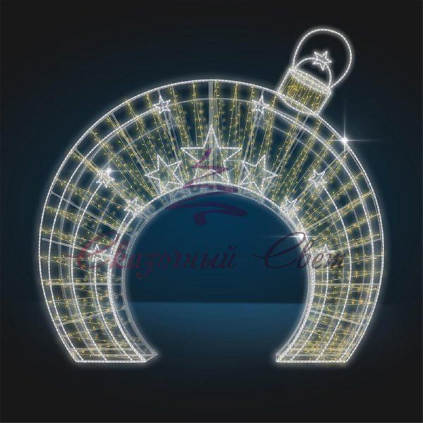 Световая арка Елочная игрушка с салютом В 4,0 м х Ш 4,0 м х Г 1,0 м - 3D GR 24 1