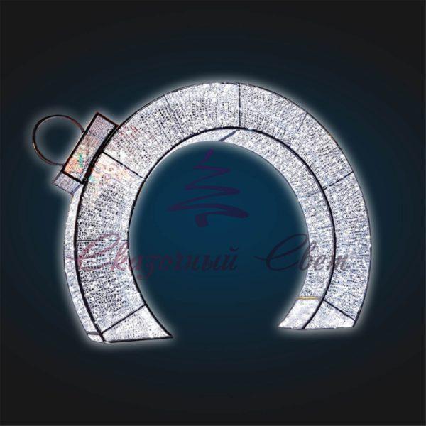 Светящаяся арка Кольцо В 3,5 м х Ш 4,5 м х Г 0,7 м - 3D GR 27 1