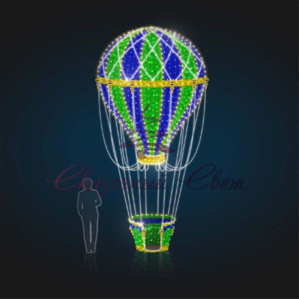 Воздушный шар В 4,5 м х Ш 2,3 м х Г 2,3 м - 3D GR 304 1