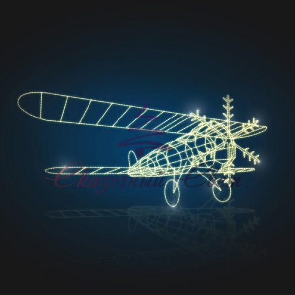 Самолет световой 3D GR 308 - Ш 7,20 м х В 2,50 м х Г 5,00 м 1