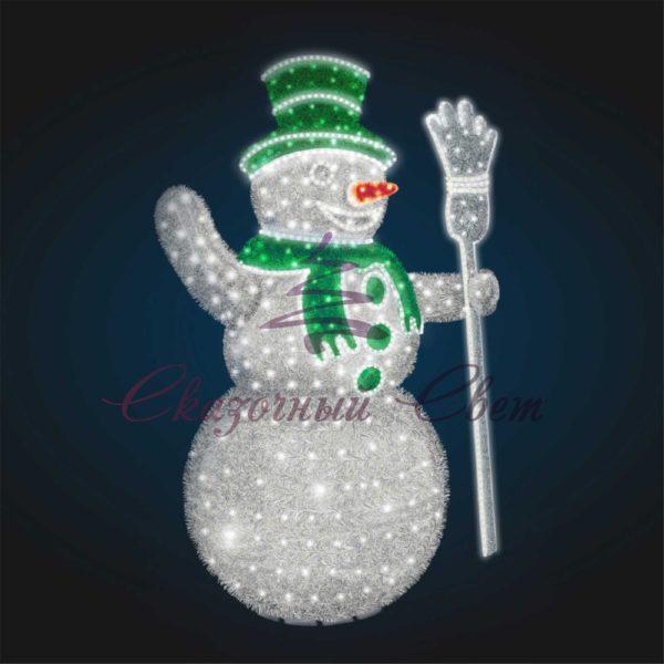 Новогодний Снеговик В 3,0 м х Ш 2,1 м х Г 1,4 м - 3D GR 31-1 1