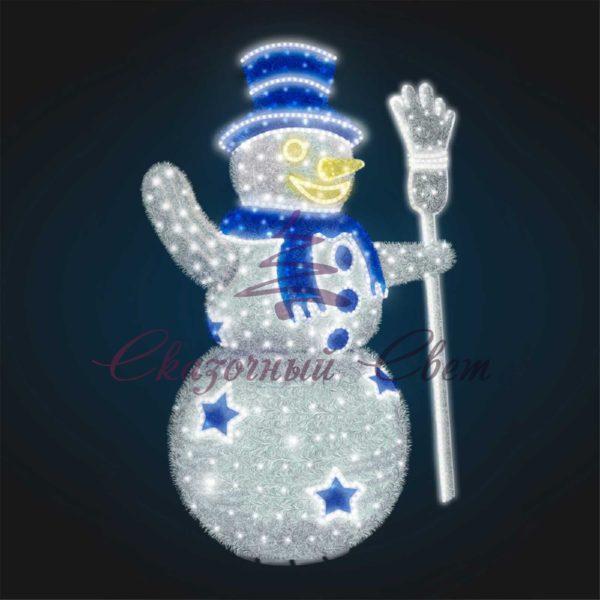 Новогодний Снеговик 3D GR 31 - Ш 2,10 м х В 3,00 м х Г 1,40 м 1