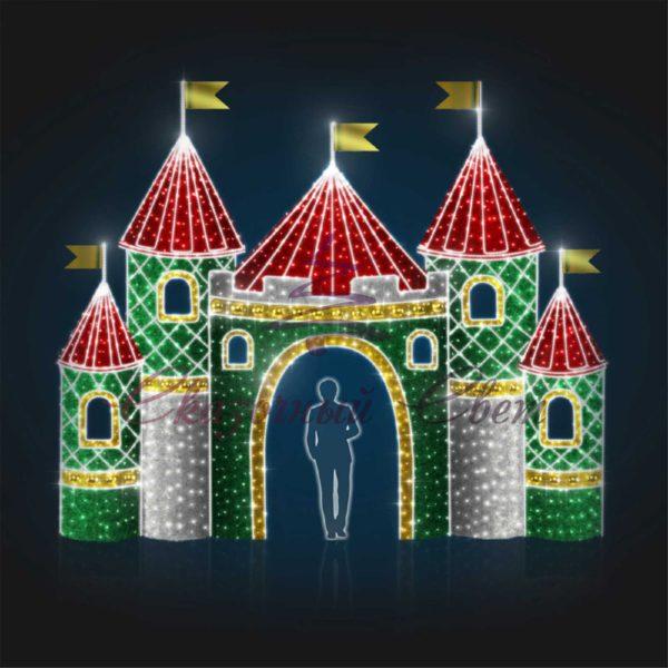 Сказочный замок В 5,2 м х Ш 6,2 м х Г 2,0 м - 3D GR 310 1