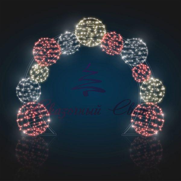 Шаро-арка В 2,6 м х Ш 3,5 м х Г 0,1 м - 3D GR 314 1