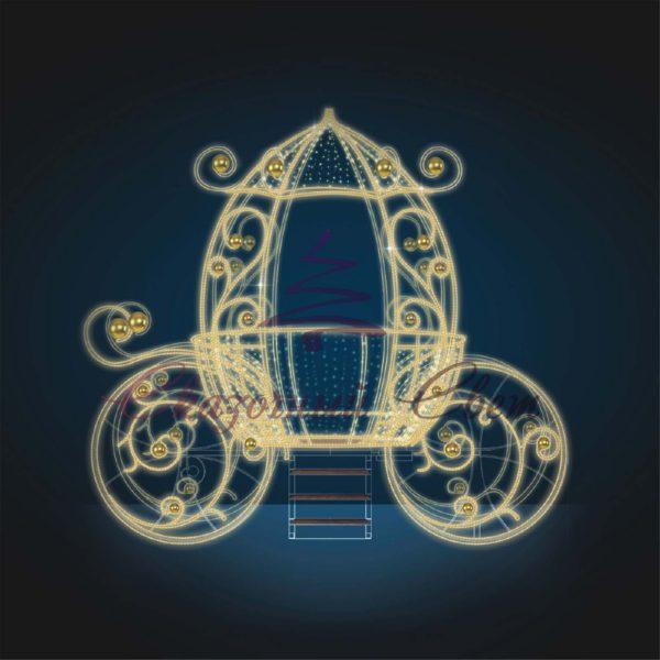 Волшебная карета В 3,3 м х Ш 3,6 м х Г 2,0 м - 3D GR 32 1