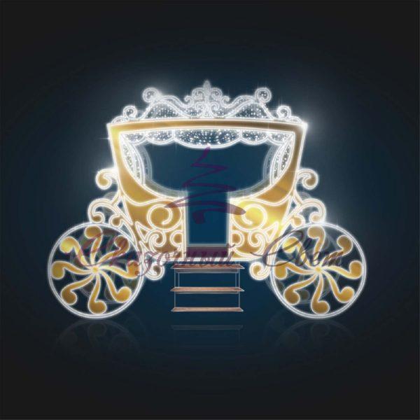 Карета Золотая световая В 3,4 м х Ш 5,0 м х Г 3,25 м - 3D GR 327 1