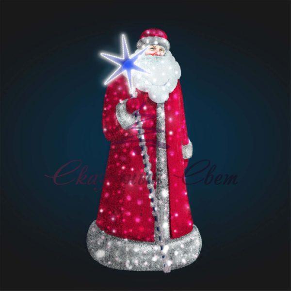 Фигура Дед Мороз В 2,0 м х Ш 0,9 м х Г 0,9 м - 3D GR 89 1