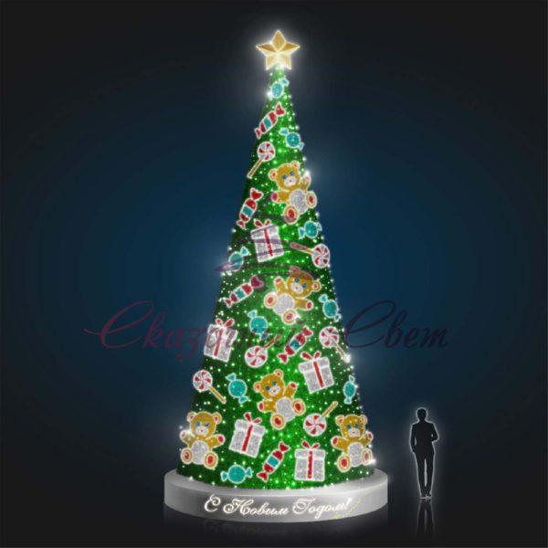 Конусная елка Детская В 10,0 м х Ш 5,0 м х Г 5,0 м - 3D SE 305 1
